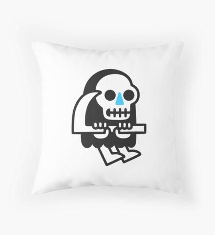 Grim Reaper Guy Throw Pillow
