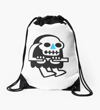 Grim Reaper Guy Drawstring Bag