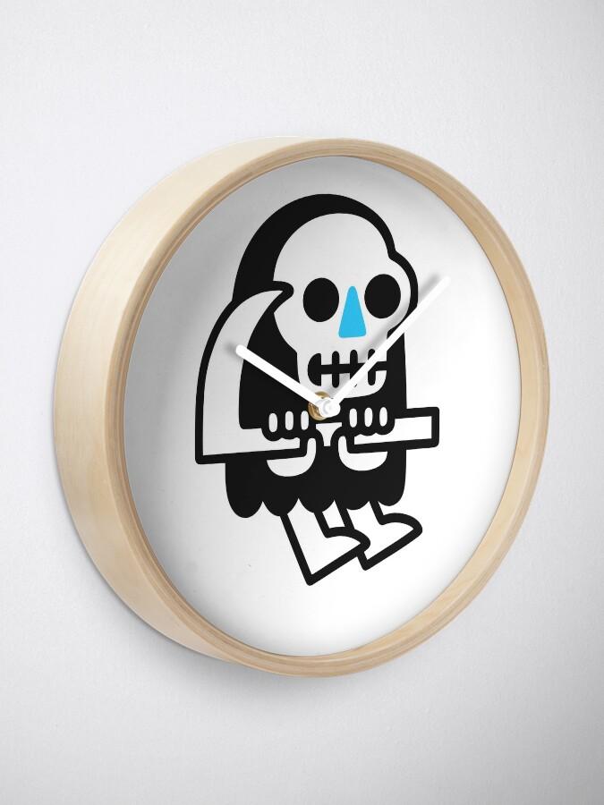 Alternate view of Grim Reaper Guy Clock