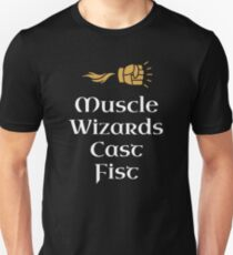 DnD Muscle Wizards Cast Fist Dungeons and Dragons Inspired D&D Unisex T-Shirt