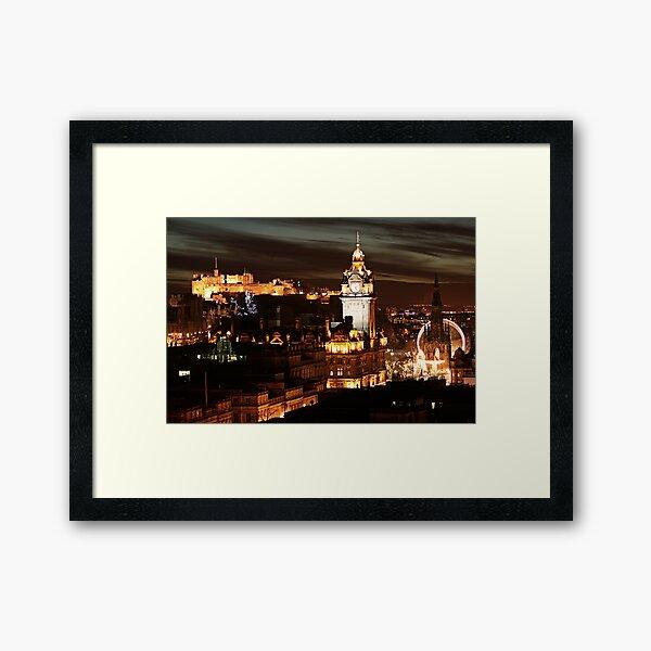 Edinburgh at Night Framed Art Print