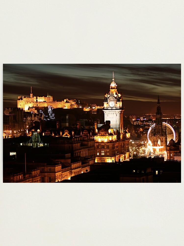 Alternate view of Edinburgh at Night Photographic Print