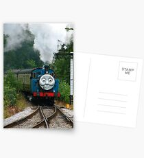 Thomas, Huffing and Puffing up the track Postcards