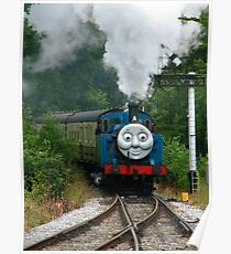 Thomas, Huffing and Puffing up the track Poster