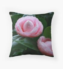 Camellias Throw Pillow