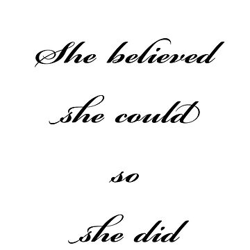 She believed she could so she did by instamedshop