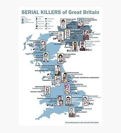 Serial Killers of Great Britain Photographic Print