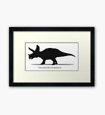 Triceratops dinosaur silhouette Framed Print