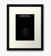Elliot fsociety · mr. Robot tv show Framed Print
