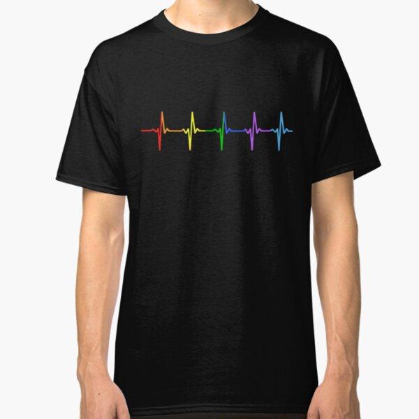 Rainbow Pulse Hearbeat LGBT Classic T-Shirt