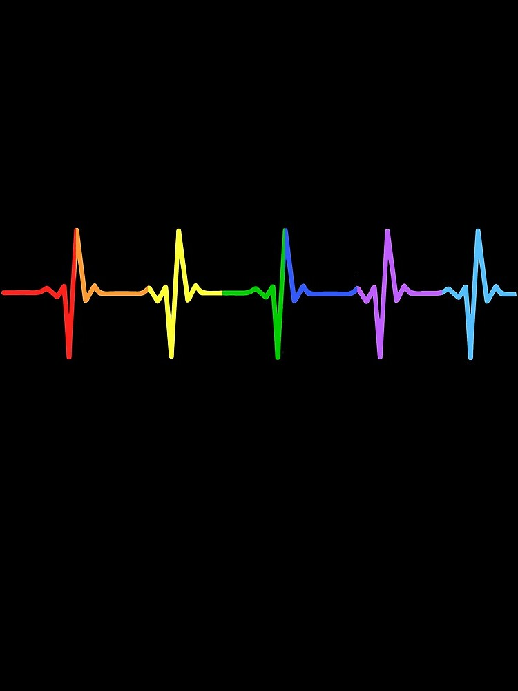Rainbow Pulse Hearbeat LGBT by thingsandthings