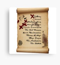 Arya Stark's List Canvas Print
