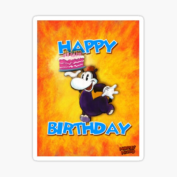 Horus Hippo - Happy Birthday Sticker