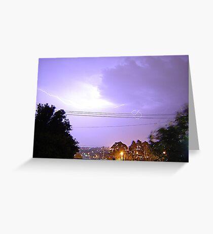 Purple Storm & Lightning Greeting Card
