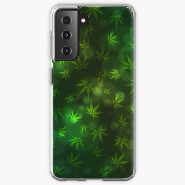 Green Cannabis Marijuana pattern Samsung Galaxy Soft Case