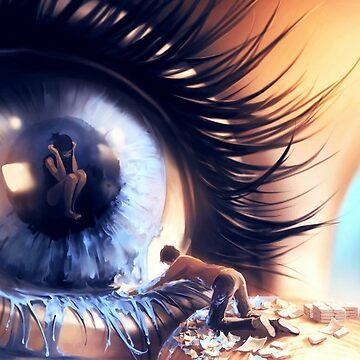 Reflection in the eye by Rajaljain
