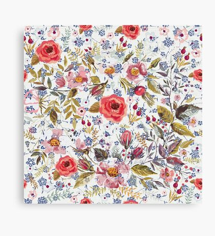 Sea of Floral Canvas Print