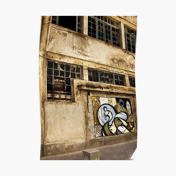 Fassade im Hafen von Porto Poster