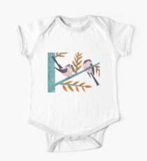 Happy Long-Tailed Tits One Piece - Short Sleeve