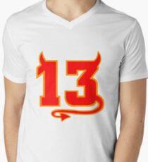 Lucky Devil 13  Mens V-Neck T-Shirt