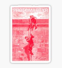 Protomartyr (red engraving) Sticker
