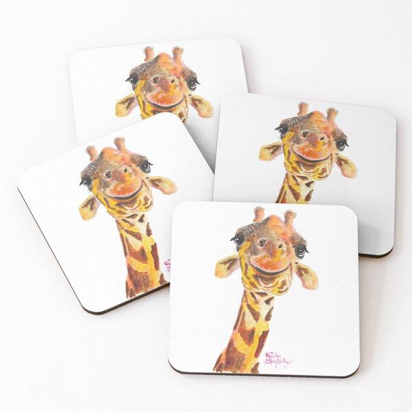 Nosey Giraffe ' Jo ' by Shirley MacArthur Coasters (Set of 4)