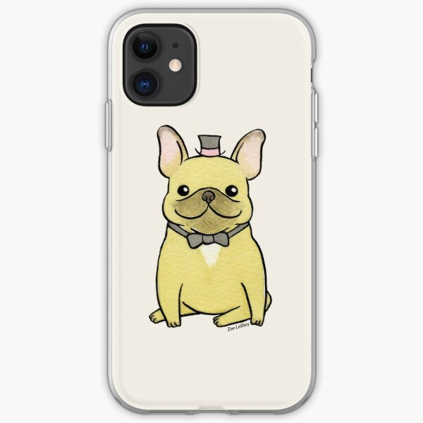 French Bulldog - The Little Gentleman iPhone Soft Case