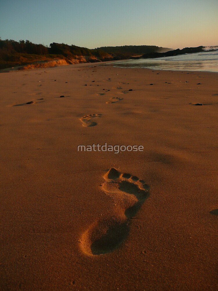 trail of foot steps by mattdagoose