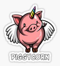 Piggycorn Funny Flying Pig Unicorn  Sticker