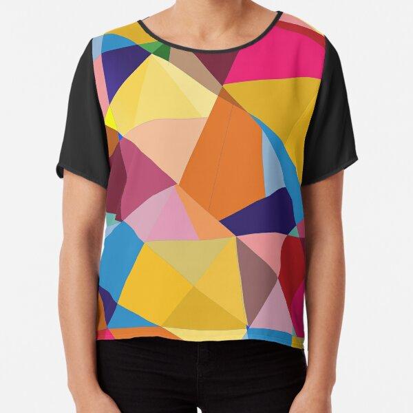 Creative Geometry rainbow triangles Chiffon Top