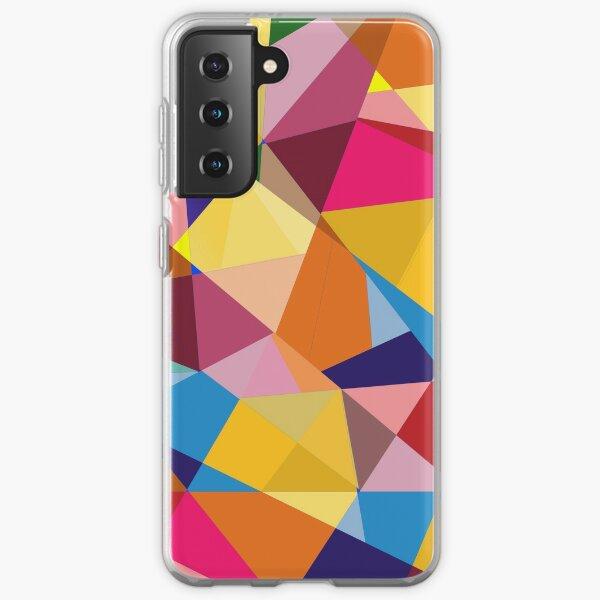 Creative Geometry rainbow triangles Samsung Galaxy Soft Case