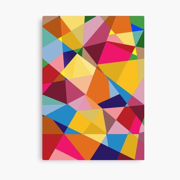 Creative Geometry rainbow triangles Canvas Print