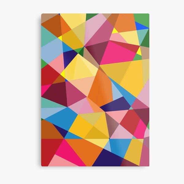 Creative Geometry rainbow triangles Metal Print