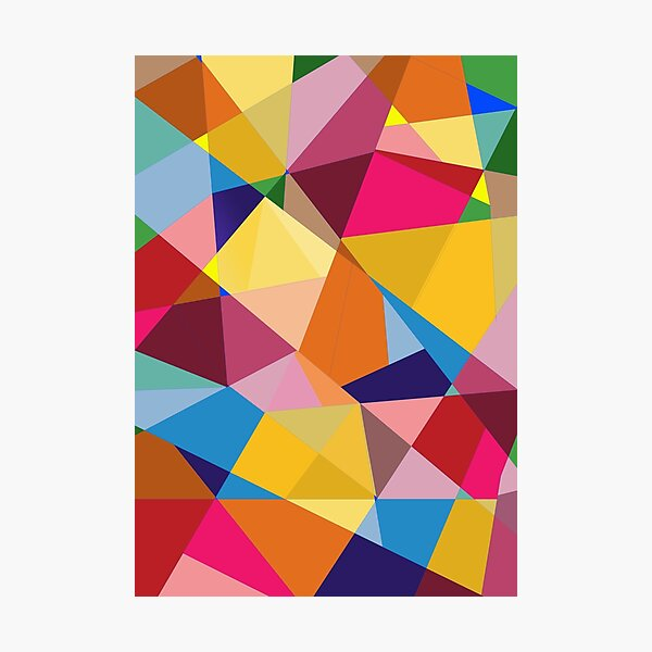 Creative Geometry rainbow triangles Photographic Print