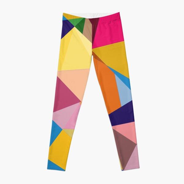 Creative Geometry rainbow triangles Leggings