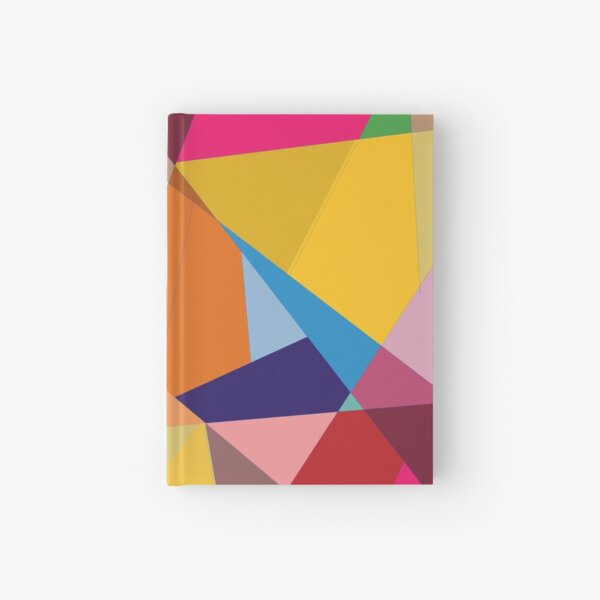 Creative Geometry rainbow triangles Hardcover Journal