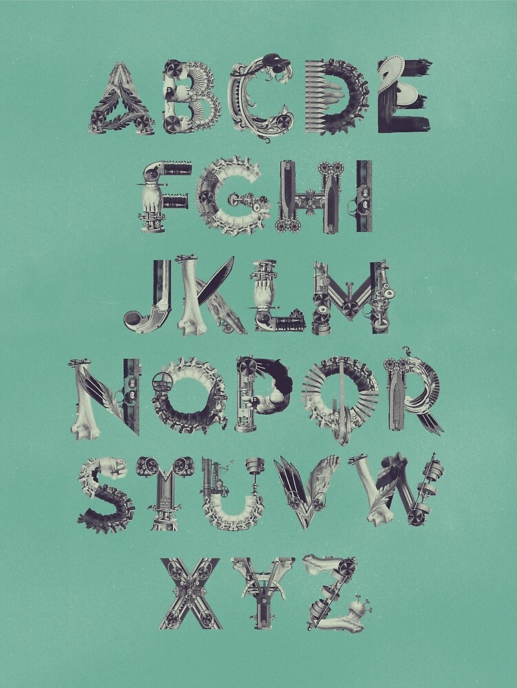 Steampunk Alphabet by birgitpalma