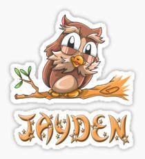 Jayden Owl Sticker
