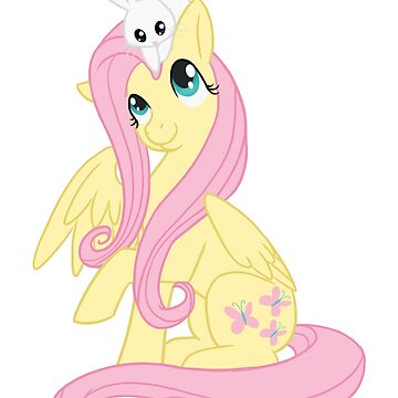Fluttershy and Angel Together by DawnAllies