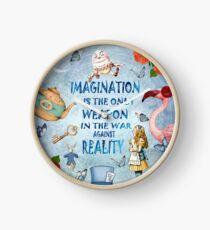 Alice im Wunderland - Fantasie-Zitat Uhr