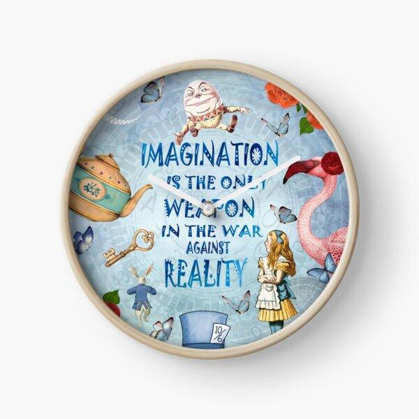 Alice In Wonderland - Imagination Quote Clock