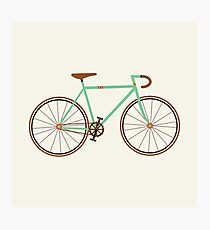Green Fixie Photographic Print