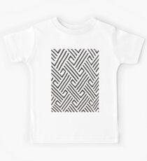 minimalist balck and white houndstooth herringbone pattern Kids Tee