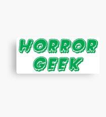 Horror Geek - Classic Green Canvas Print