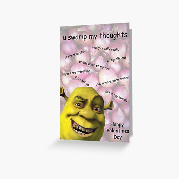 Shrek Valentines Card Greeting Card