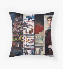 Positive Negative Space Throw Pillow