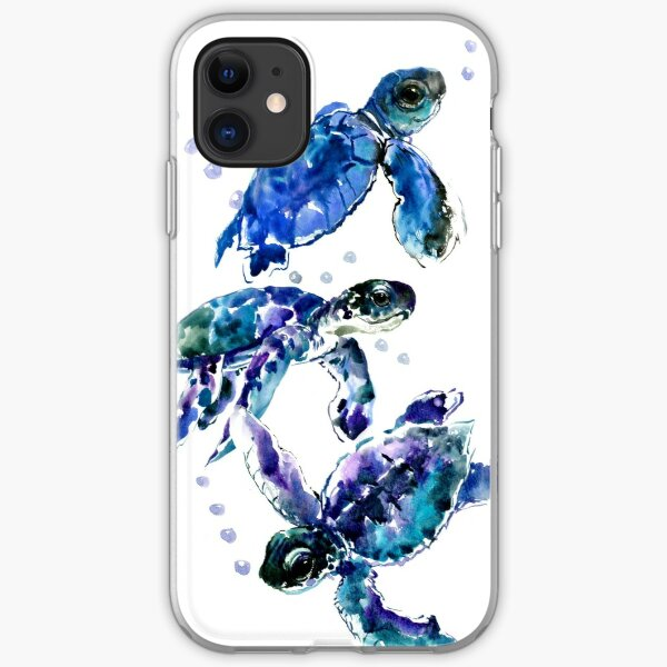 Three Sea Turtles iPhone Soft Case
