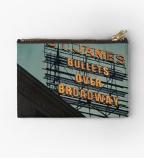 St. James Theater - Bullets Over Broadway Musical Neon Sign - Kodachrome Postcards  Studio Pouch