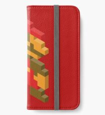 8-bit Isometric 02 - Super Mario Bros. - Mario iPhone Wallet/Case/Skin