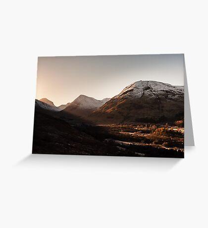 Glen Coe Sunrise Greeting Card
